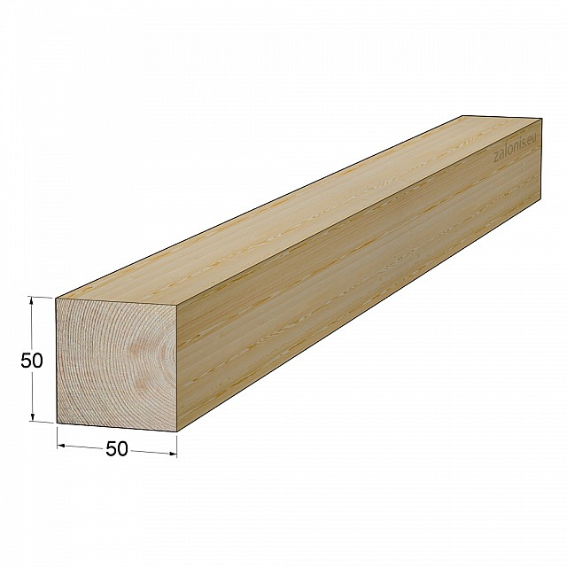 TIMBER SQUARE BEAM 50x50 mm / PINE